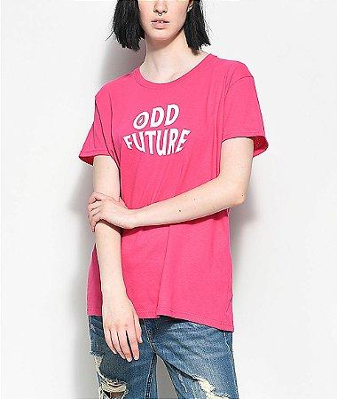 Camiseta Odd Future Wavy Logo Hot Pink - Pink