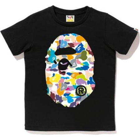 Camiseta Bape Ladies Multi Camo Big Ape Head - Black