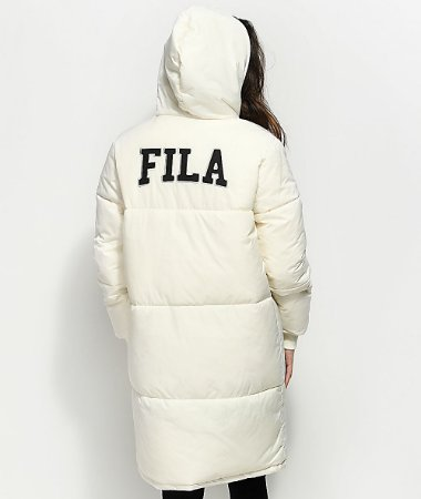 Jaqueta Parka FILA Grace Long Puffer - Cream