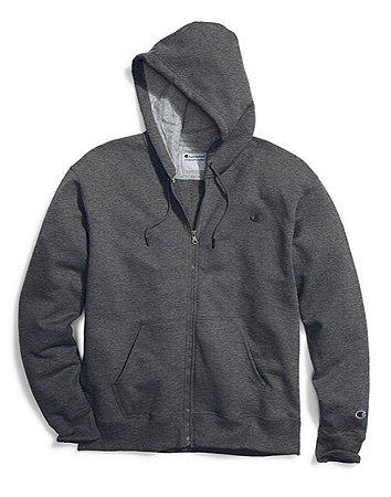 Moletom Champion Powerblend Fleece Full-Zip - Dark Grey