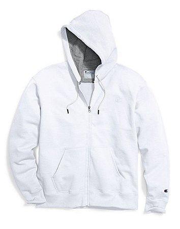 Moletom Champion Powerblend Fleece Full-Zip - White