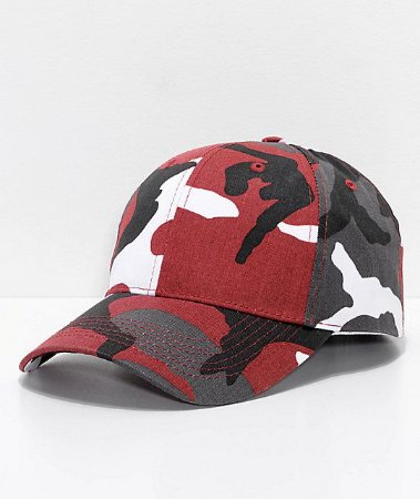 Boné Rothco Colorful Camo - Dark Red