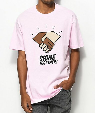 Camiseta Diamond Supply Co. Shine Together - Pink