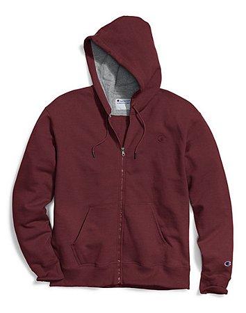 Moletom Champion Powerblend Fleece Full-Zip - Dark Red