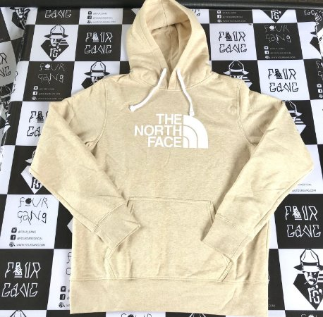 Moletom The North Face Pullover Logo - Beige