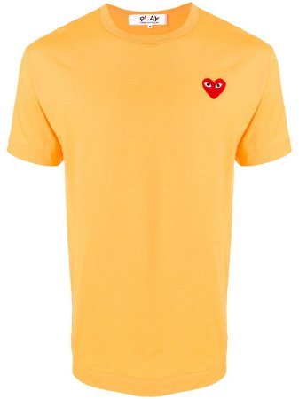 Camiseta Comme des Garcons Play Heart - Gold