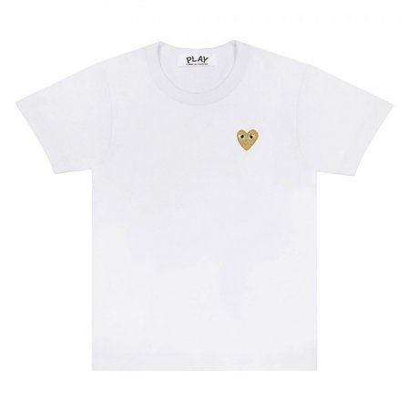 Camiseta Comme des Garcons Play Gold Heart - White