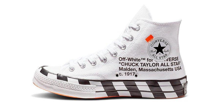 Tênis Converse x OFF-White Chuck Taylor 70s - White