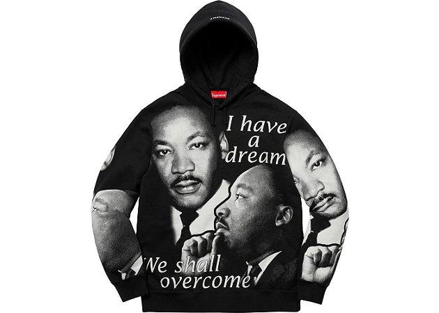 Moletom Supreme Martin Luther King - Black