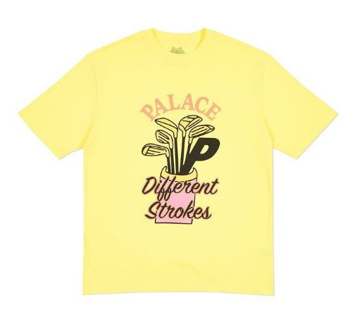 Camiseta Palace Dif Strokes - Yellow