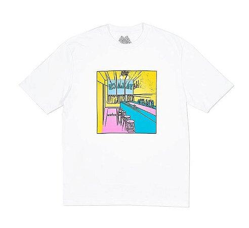 Camiseta Palace Scheisse Face - White
