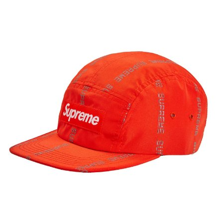 Boné 6-Panel Supreme Reflective Text - Orange