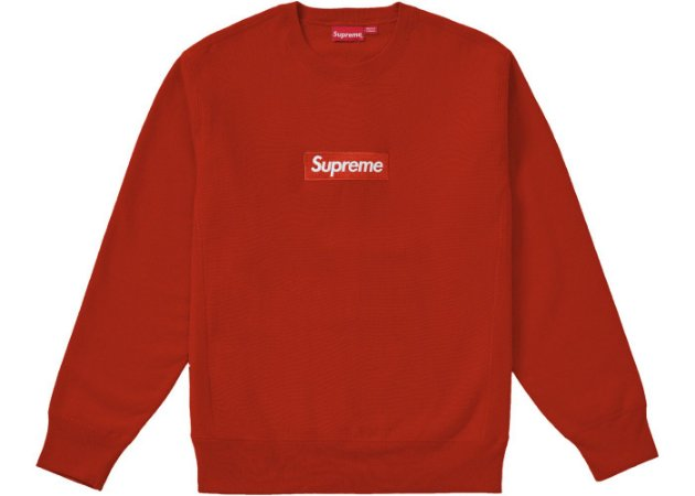 Moletom Supreme Box Logo Crewneck (FW18) - Rust