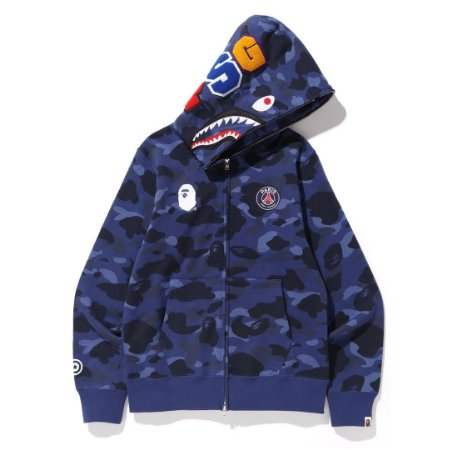 Moletom Bape Shark x PSG - Blue