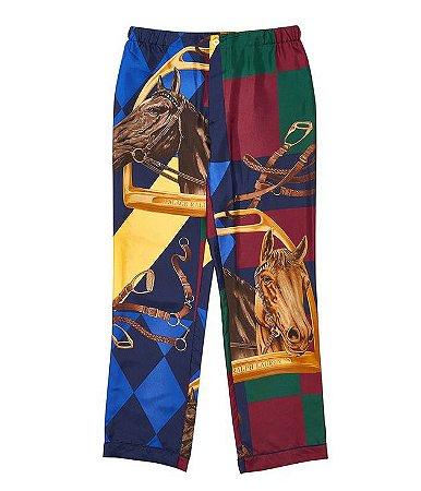 Calça Palace x Ralph Lauren Pyjama Silk Horse - Multi
