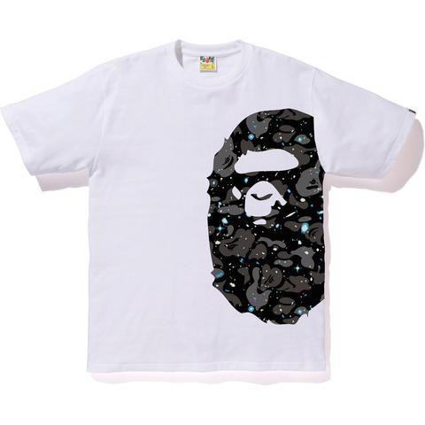 Camiseta Bape Big Ape Head Space Camo - White