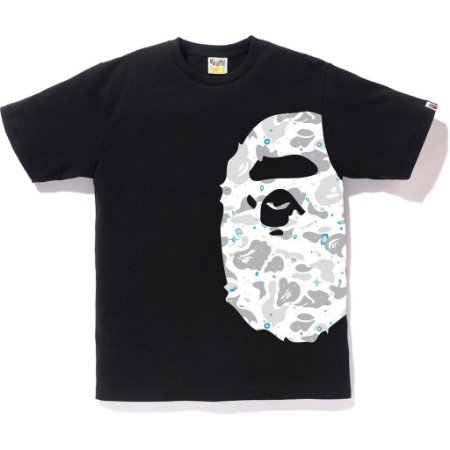 Camiseta Bape Big Ape Head Space Camo - Black