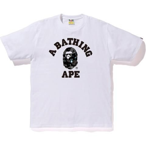 Camiseta Bape College  Space Camo - White
