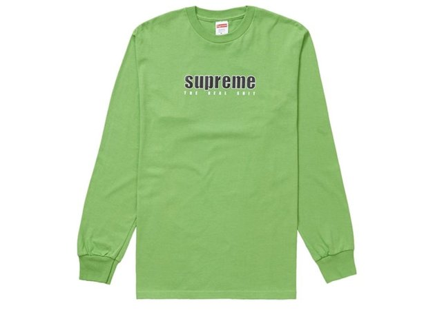 Camiseta Supreme Long Sleeve The Real Shit - Green