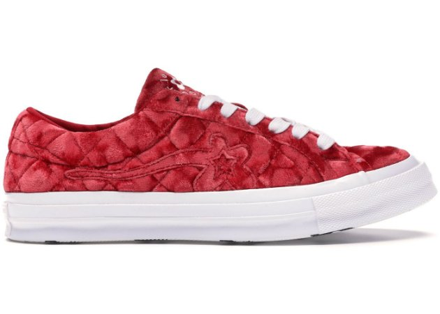 Tênis Converse x GOLF le FLEUR One Star Velvet - Red