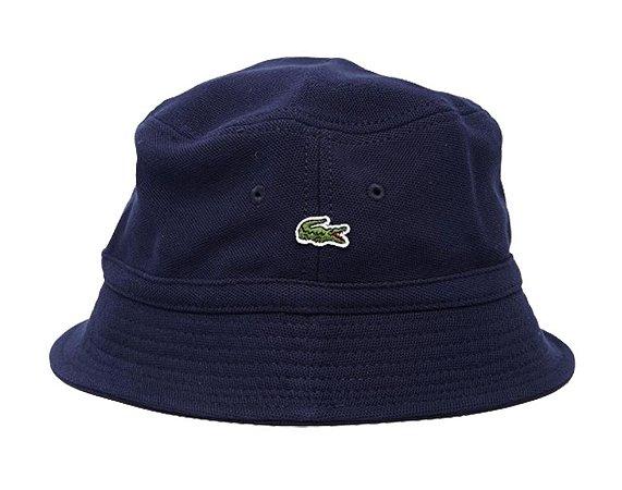 Bucket Lacoste Cotton Pique - Navy