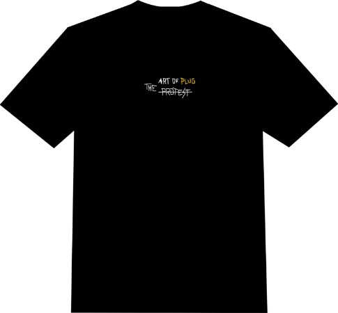 "Camiseta The Protest ""The Art of Plug"" - Black"