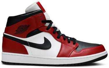 Tênis Nike Air Jordan 1 Mid Chicago - Black Toe