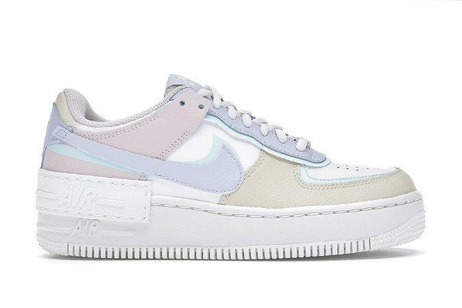 Tênis Nike Air Force 1 Shadow White Glacier Blue Ghost (W)