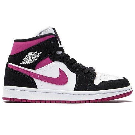 Tênis Nike Air Jordan 1 Mid - Magenta
