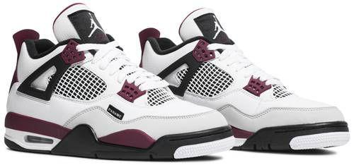 Tênis Nike Air Jordan 4 Retro x PSG - Bordeaux