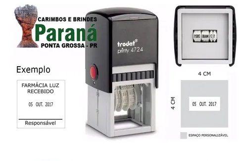 Datador Trodat 4724 (4x4cm) + Personalização