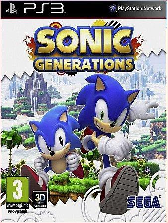 SONIC GENERATIONS PS3 MÍDIA DIGITAL