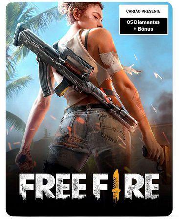 Free Fire 85 Diamantes + Bônus - Cartão Presente Digital