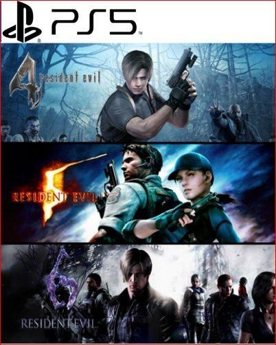 RESIDENT EVIL TRIPLE PACK PS5 PSN MÍDIA DIGITAL