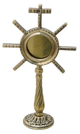 Ostensório Hóstia Bronze Missas Religião Igreja Católica Bispos Padres Papa