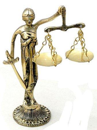 Símbolo Do Direito Bronze Deusa Da Justiça Decoração Presentes