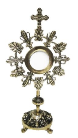Ostensório Hóstia Bronze Igreja Missas Religião Padre Bispo