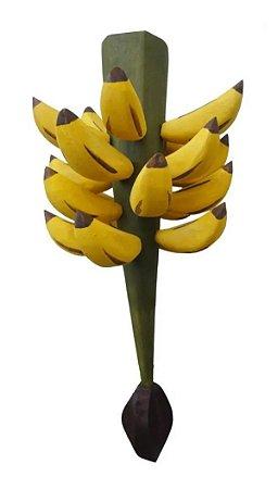 Cacho De Bananas Em Madeira Rústica Enfeite Decorações Lindo