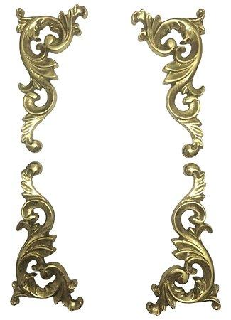 Aplique Em Bronze Móveis Quinas Cantos Cômodas Cristaleiras