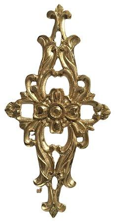 Aplique Em Bronze Móveis Grande Cômoda Maravilhoso Antigos*
