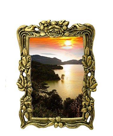 Porta Retrato Em Bronze Foto Namoradas Mães Decoração Irmãos Amores*