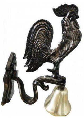 Sinos Galo Bronze Parede Base Metal Fazenda Granja Campainha