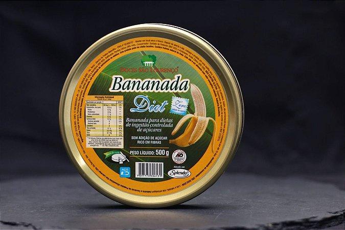 DOCE DE BANANA DIET BANANADA DOCES DE SÃO LOURENÇO 500G