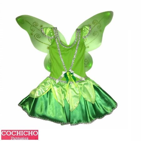 Fantasia Fada Green Colan Infantil