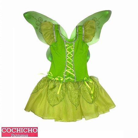 Fantasia Fada Green Luxo Infantil