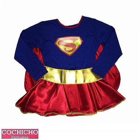 Fantasia Menina Super Luxo Infantil