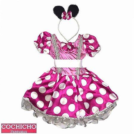 Fantasia Ratinha Pink Luxo Baby