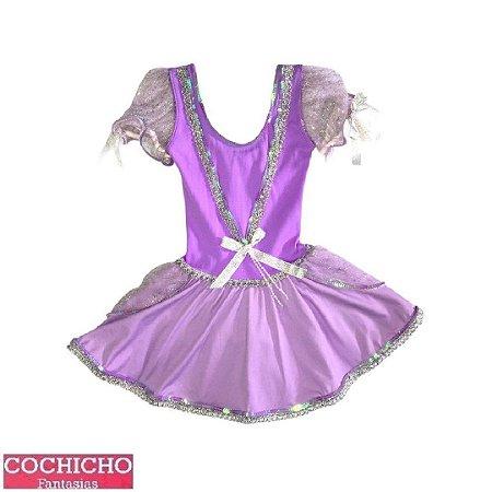 Fantasia Princesa Trançada Curta Infantil