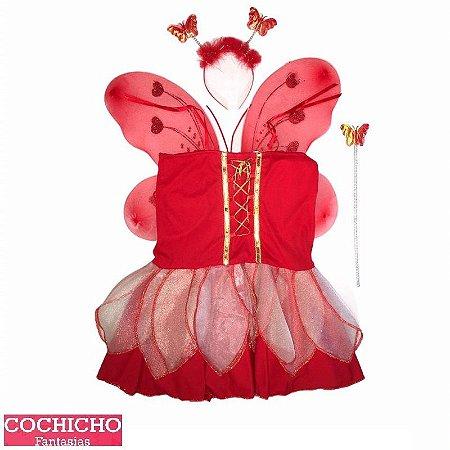 Fantasia Fada Red Infantil