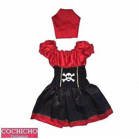 Fantasia Pirata Charlote Infantil
